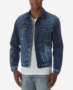 $194 WRANGLER Men's BLUE WESTERN TRUCKER DENIM JEAN JACKET B