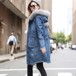 2018 Warm Winter Long Bomber Women Spring Autumn Hooded Coat