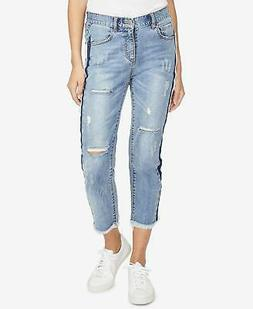 99 rachel roy womens distressed ripped cropped