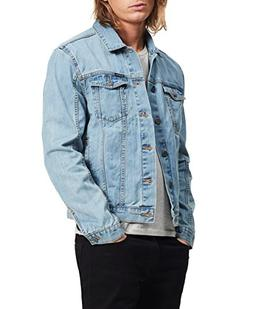 Calvin Klein Men's Denim Trucket Jacket, Light Wash, Large
