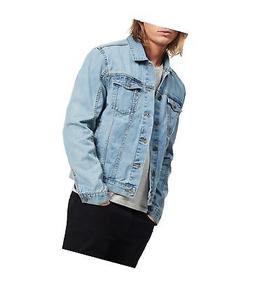 Calvin Klein Men's Denim Trucket Jacket, Light Wash, Medium