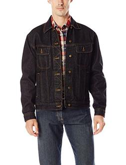 Wrangler Men's Rugged Wear Unlined Denim Jacket, Black, Larg
