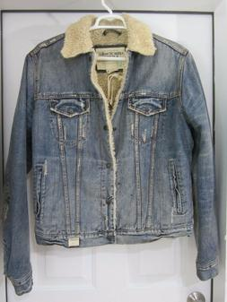 Abercrombie and Fitch sherpa lined Denim jacket VINTAGE size