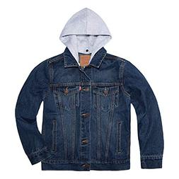 Levi's Boys' Big Denim Trucker Jacket, Pacific Coast, S