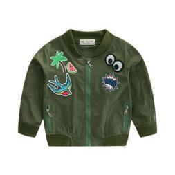 boys girls patch bomber font b jackets