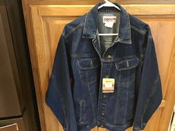 WRANGLER BRAND NEW MENS  DARKSTONE-WASH DENIM JACKETS L NWT