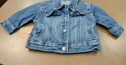 Carter's Jean Denim Jacket Coat Sz 6 Months Baby Girls / Boy