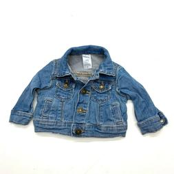 Carter's Jean Denim Jacket Coat Sz 3 Months Baby Girls Blue