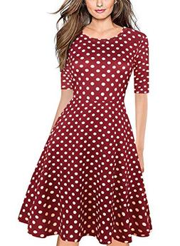 BOKALY Women's Casual Dresses with Pockets Elegant Vintage P