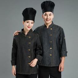 Chef Uniform Kitchen Jacket Hotel Cook Coat Food Service Wor