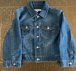 Chicos Platinum Denim Crop Jean Jacket w/ Stretch and Jewel
