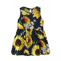 BEAUTYVAN Clearance Deals ! Flower Print Baby Sleeveless Dre