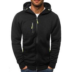 Clearance Deals Men Sweatshirt BeautyVan Men Winter Zipper P