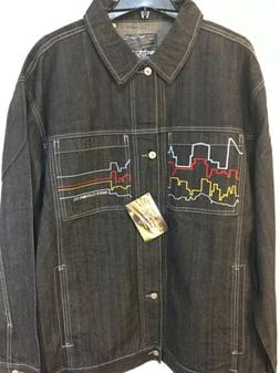Enyce Clothing Co Mens 3XL Electric City Embroidered Blue Je