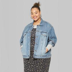 Wild Fable Denim Trucker Jean Jacket Women's Plus Size 2X Me