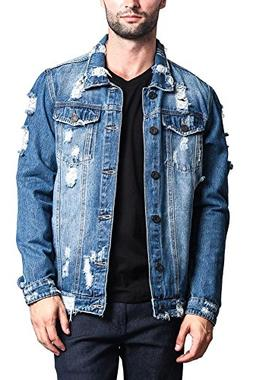 cbc128b2967 Victorious Distressed Denim Jacket Distressed Indigo X-Large