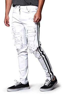 Victorious Men's Distressed Double Striped Skinny Underlayer