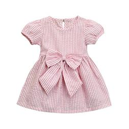 Iuhan Baby Girls Dress, Infant Toddler Kids Clothes Stripe B