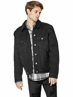 GUESS Factory Men's Skyes Sherpa Denim Jacket
