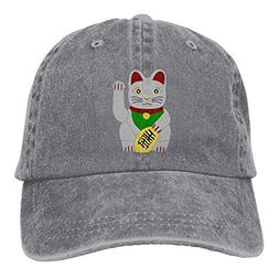 Fortune Cat Baseball Cap for Men/Women Adjustable Unisex Pla