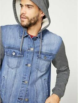 G By Guess Men's Reese Hooded Denim Jacket