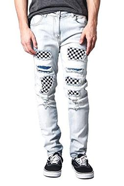 Victorious G-Style USA Men's Checkered Covered Knee Holes Sk