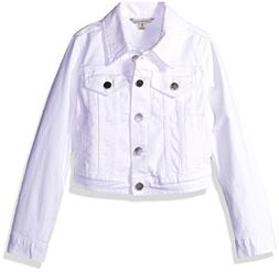 Calvin Klein Girls' Little Denim Jacket, Whiteout, 6X