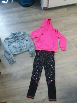 Girls Youth Body Glove Leggings & Hooded Top, Squeeze Denim