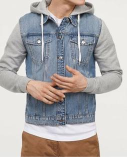 H&M Men's Hooded Denim Jacket NWT!! Large