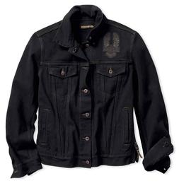 Harley-Davidson Men's Eagle Applique Slim Fit Denim Jacket 9