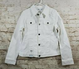 Riders by Lee Indigo Women Jean Denim Jacket White Medium NW