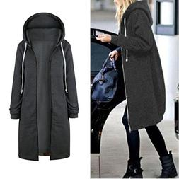 BEAUTYVAN Jacket Tops New Women Warm Zipper Open Hoodies Lon