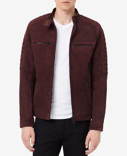 Calvin Klein Jeans Men's Suede Jacket Red Size Medium