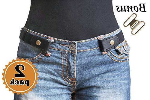 2 pack no buckle stretch belt