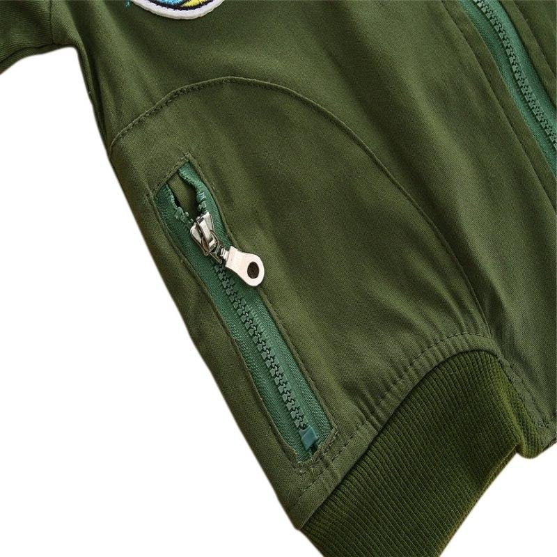 Boys Girls <font><b>Jackets</b></font> Flight Casual <font><b>Jacket</b></font> Patches <font><b>Jacket</b></font> Coats
