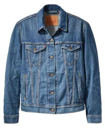 $89.50 Men's Sz MEDIUM The Shelf Denim Jean Jacket NWT