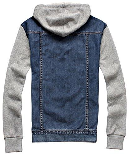 XueYin Men's Hoodie Jacket with Fit Casual