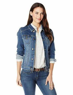 authentics women s denim jacket weathered x