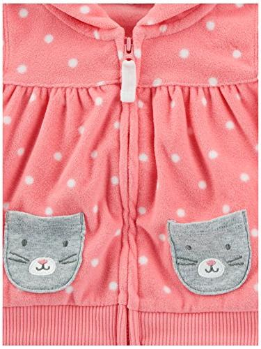 Carter's Baby Girls' Jacket and Set, Denim Dot, 9 Months