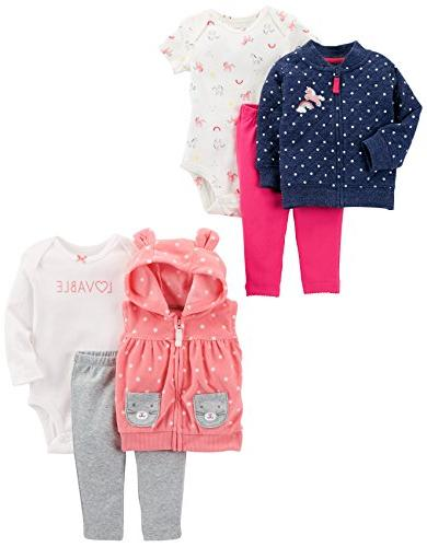 carter s baby girls 6 piece jacket