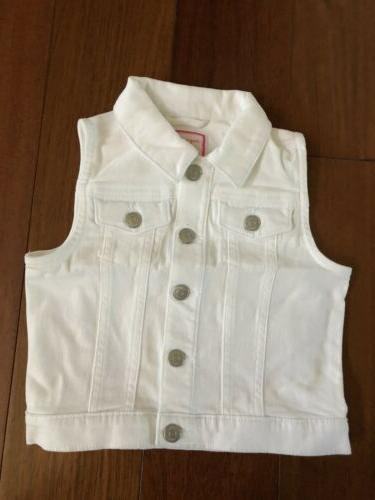 denim jacket vest white
