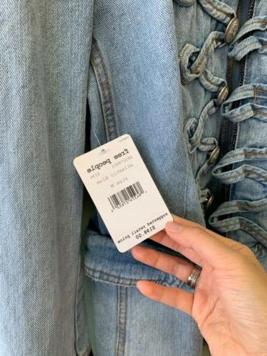 Free People And Structed Denim Jacket $198