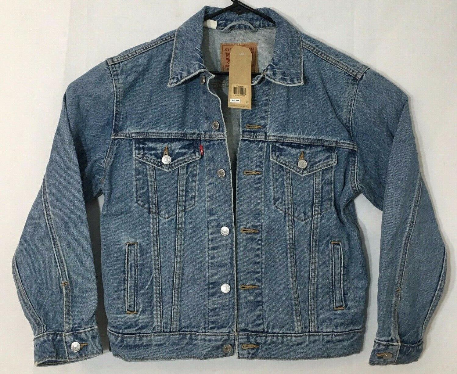 Levi's Women's Ex-Boyfriend Jacket's, Indigo, Medium
