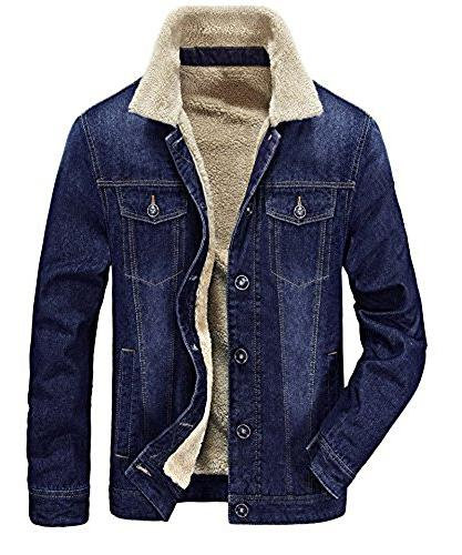 fleeced denim jacket