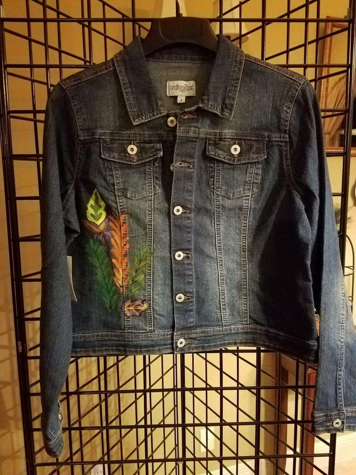 hand painted denim jacket new with tags