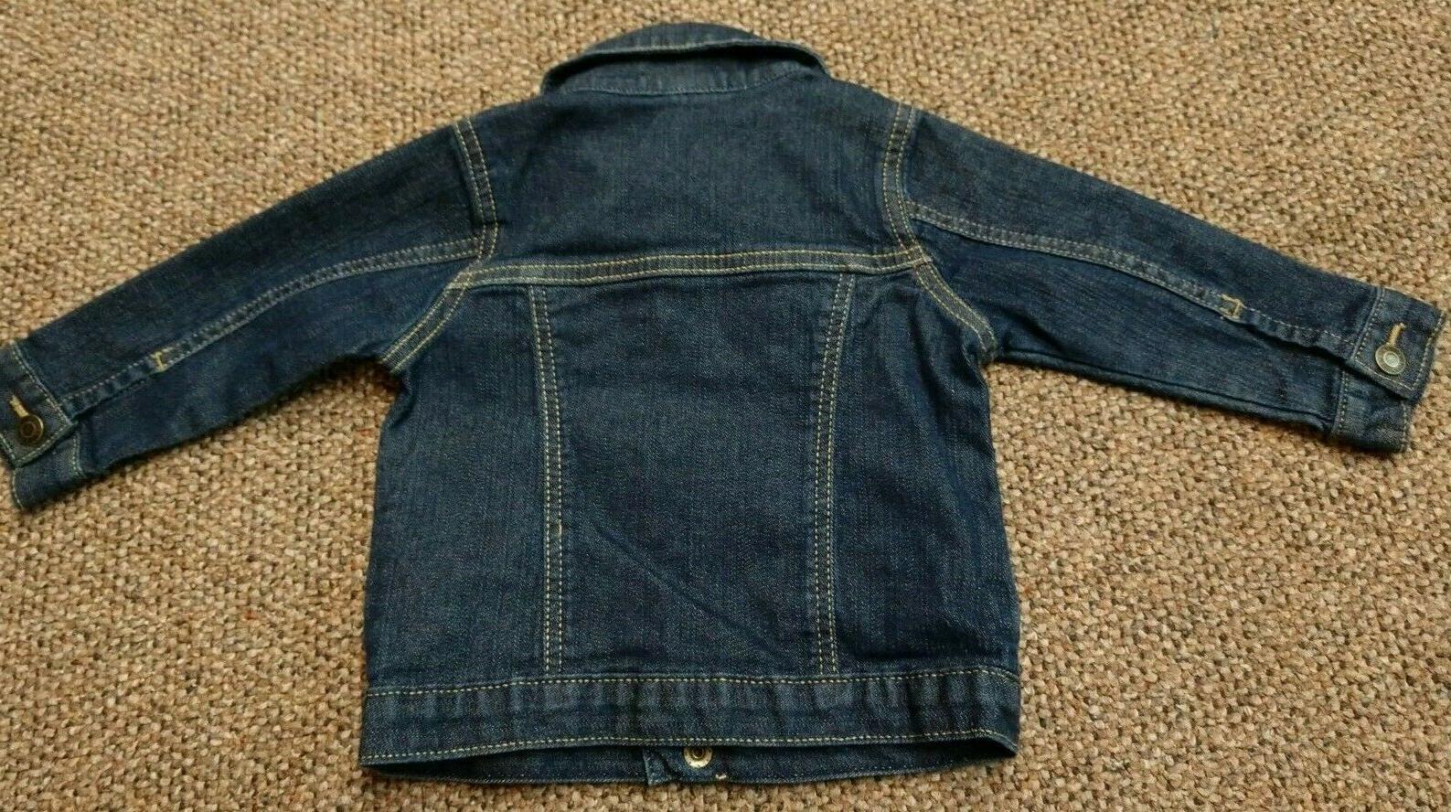 INFANT 12 CARTER'S DENIM JACKET STRETCH BLUE EUC