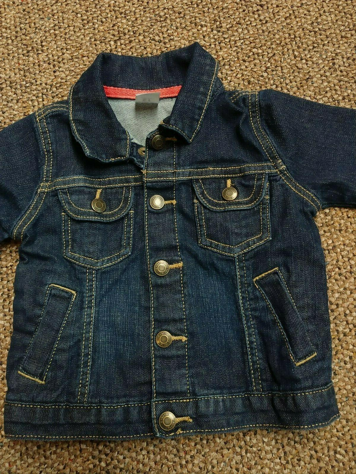 INFANT GIRLS CARTER'S DENIM JACKET outerwear STRETCH BABY EUC