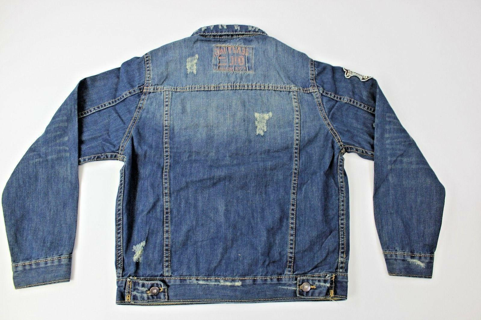 TONY JACKET 6GD11J Petite Size Blue Denim Jacket