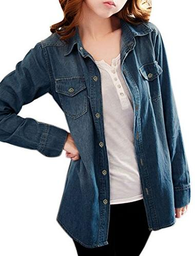 lady long rolled sleeves casual
