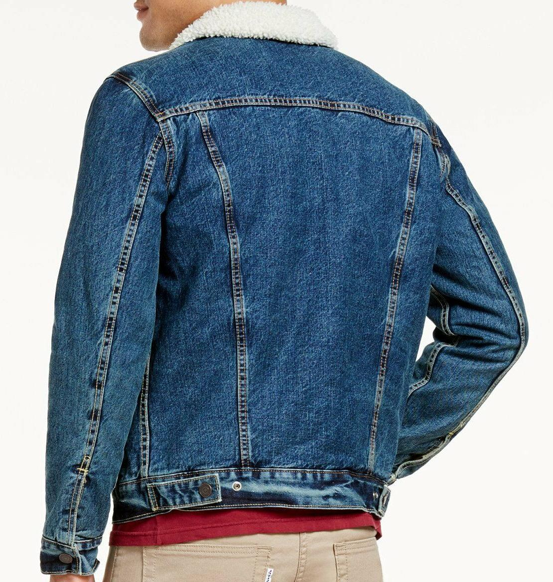 Levi's Big Tall Men's Sherpa Denim Jacket - -